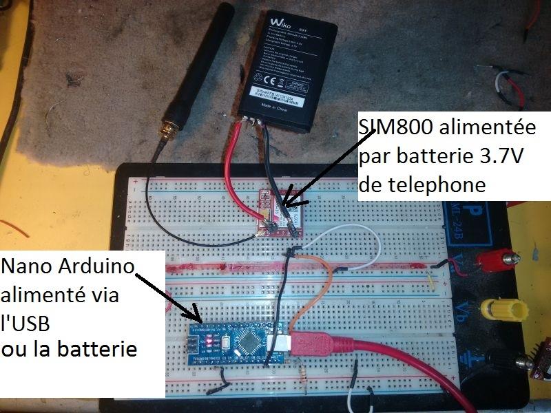 Tuto module SIM800 GSM + Arduino pour télécommande